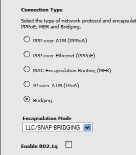 bridging protocol on tecom ar1031