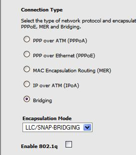 bridging protocol on tecom ar1031